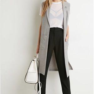 Forever 21 gray long vest
